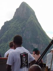 Aboard the Brig Unicorn approaching the Pitons