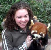 Holding Red Panda, they are sooo cute.