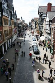 Eastgate street with Grosvenor Hotel and Spa on the left