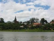 Dalat with cathedral and colonial french buildings