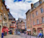 Medieval Old Town Dinan in the daytime