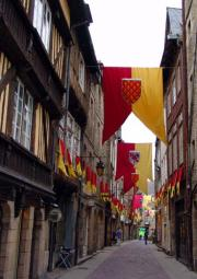 Old Dinan In readiness for a Festival