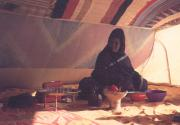"Preparing ""chai"" in a Mauritanian tent of the desert"