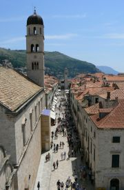 Inside the walled city of Dubrovnik