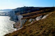 Cliffs and the port of Dover