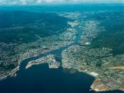 Drammen from the air
