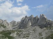 More twisted rock, with Zupci, Durmitor`s `Teeth` in the background