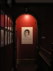Painting of Robert Burns inside The Writers' Museum