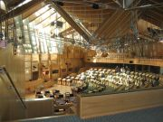 Debating Chamber of Scottish Parliament