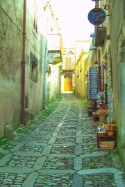 Typical street, Erice