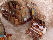 Woodcrafter's shop under the ramparts