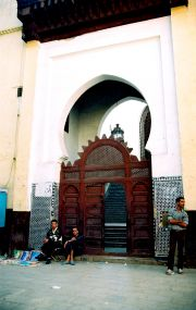 Entry to a mosque in the medina