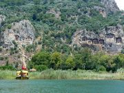 Lycian tombs in Dalyan