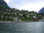 view of a part of Aurland from the fjord