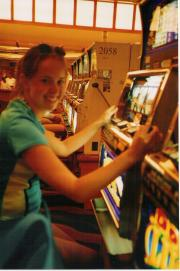 Playing the slot machines