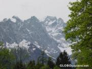 A great picture I took of the Zugspitze from behind Garmisch.