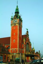 Gdansk Glowny, the main train station, a few meters from the old town.