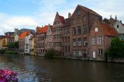 Mansions along the Ghent's canals
