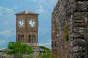 Clock tower, part of the fortress of Gjirokaster.