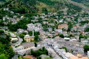 Part of the old town panorama of Gjirokaster taken from the walls of the fortress.
