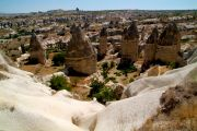 Göreme Valley, right at the back of the town - a selection of fairy chimneys.