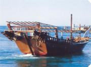 Historical dhow in Bahrain