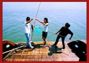 Fishing on Halong Bay