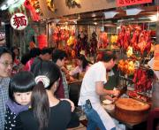 Great asian food markets are everywhere in Hong Kong. Try the fish balls!