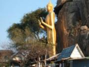 The Golden Budda facing the sea at Khao Takiab in Hua Hin