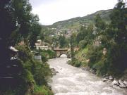 The Rio Santa flowing through Huaraz