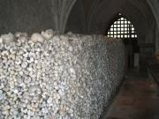 The gruesome ossuary in the crypt of St.Leonard's Chruch