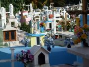 Isla's tiny , but colourful graveyard