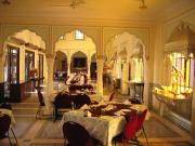 Restaurant at The Raj Palace Hotel.