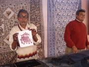 Hand Blockprinted Demonstration at a factory.