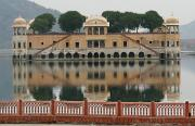 Mirror image of Jal Mahal aka Water Palace.