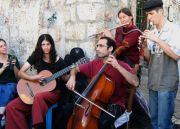 Friday at the Shuk. Band plays in between Nachlaot and the market on Agripas