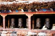 Prayer wheels in Jahrkot