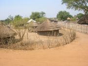 Typical Southern Sudan village close to Nimule