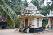 The beautifully decorated Hindu temple near samudra Beach