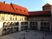 The Wawel Castle's courtyard