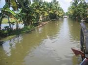 Through villages around the backwaters