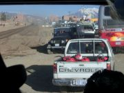 catching the bus into La Paz