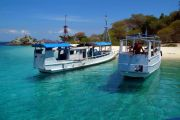 Boats at Bidadari island