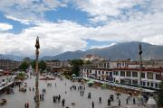 Barkhor square from the roof of the Jokhang.