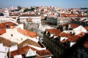 From top of Gloria, Rossio [centre] and castle [far right]