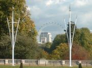 St. James' Park and London Eye