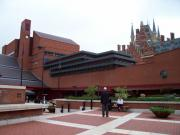 The British Library, with St. Pancras in the background.
