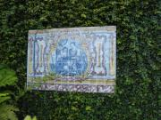 These azulejos of Portuguese history are found along the path down into Monte Tropical Gardens