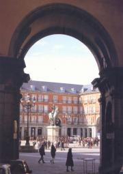 Plaza Mayor and Spanish King Felipe III
