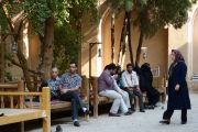 Yazd, Dowlatabad Garden, Men's Talk, Women's Talk